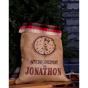 Medium Santa Sack Plaid