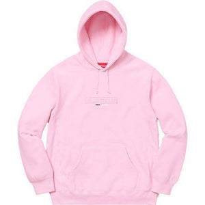 Supreme 18S/S Embossed Logo Hooded Sweatshirt Pink