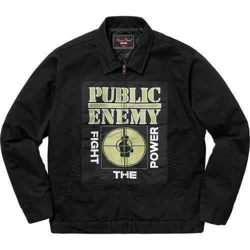 Supreme 18S/S Undercover Public Enemy Work Jacket Black