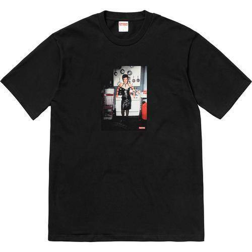 Supreme 18S/S Nan Goldin Nan as a dominatrix Tee Black