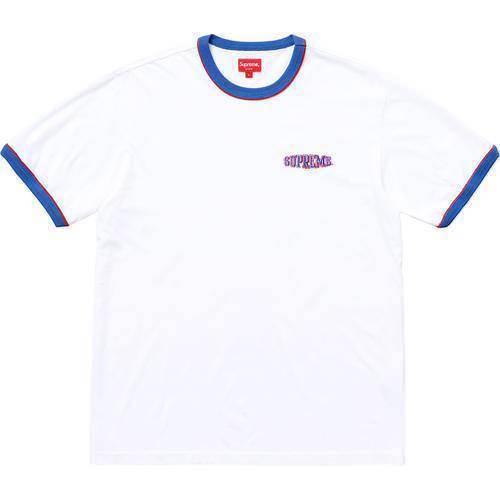 Supreme 18S/S Piping Ringer Tee White