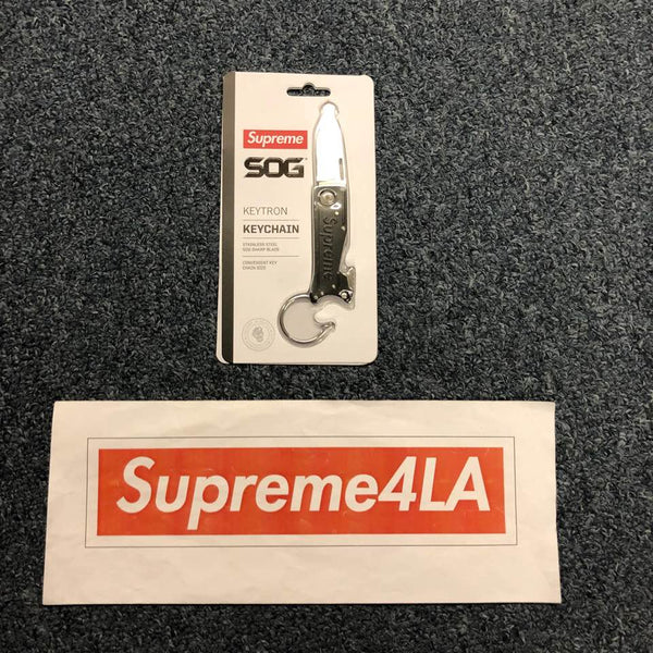 Supreme 18F/W SOG KeyTron Folding Knife Black