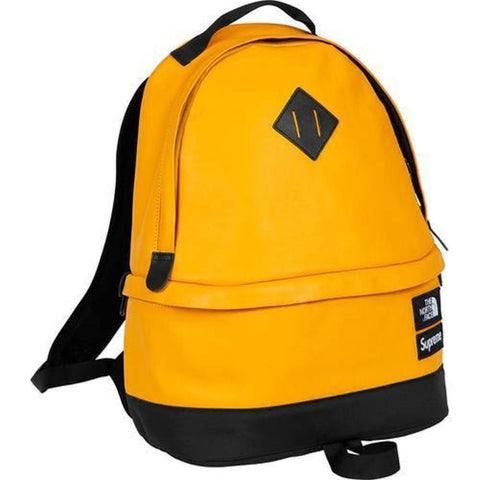 Supreme 17F/W The North Face Leather Day Pack Yellow