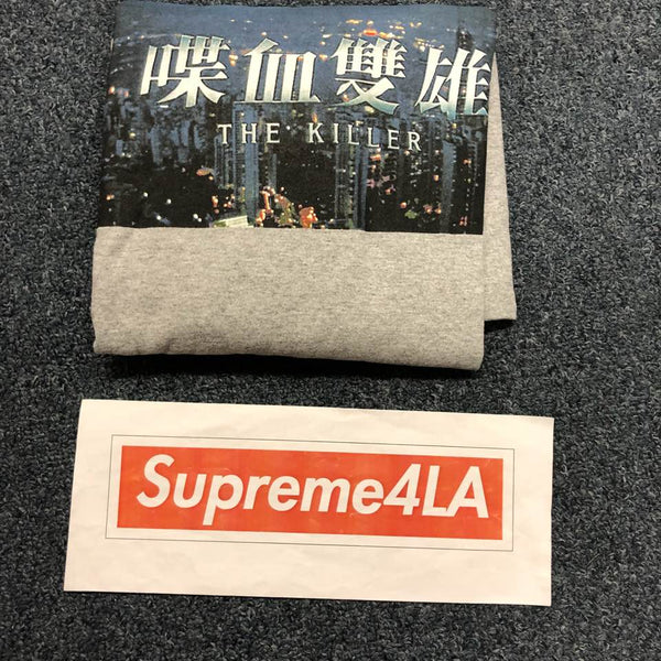 Supreme 18F/W The Killer L/S Tee Heather Grey