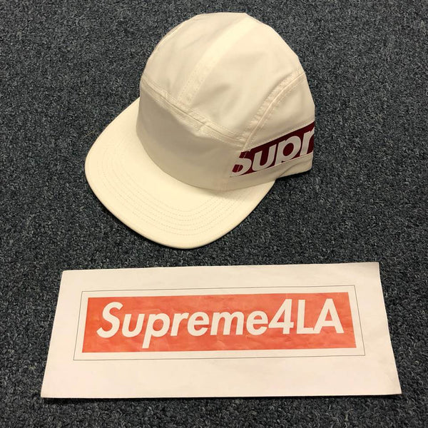 Supreme 18F/W Side Panel Camp Cap White