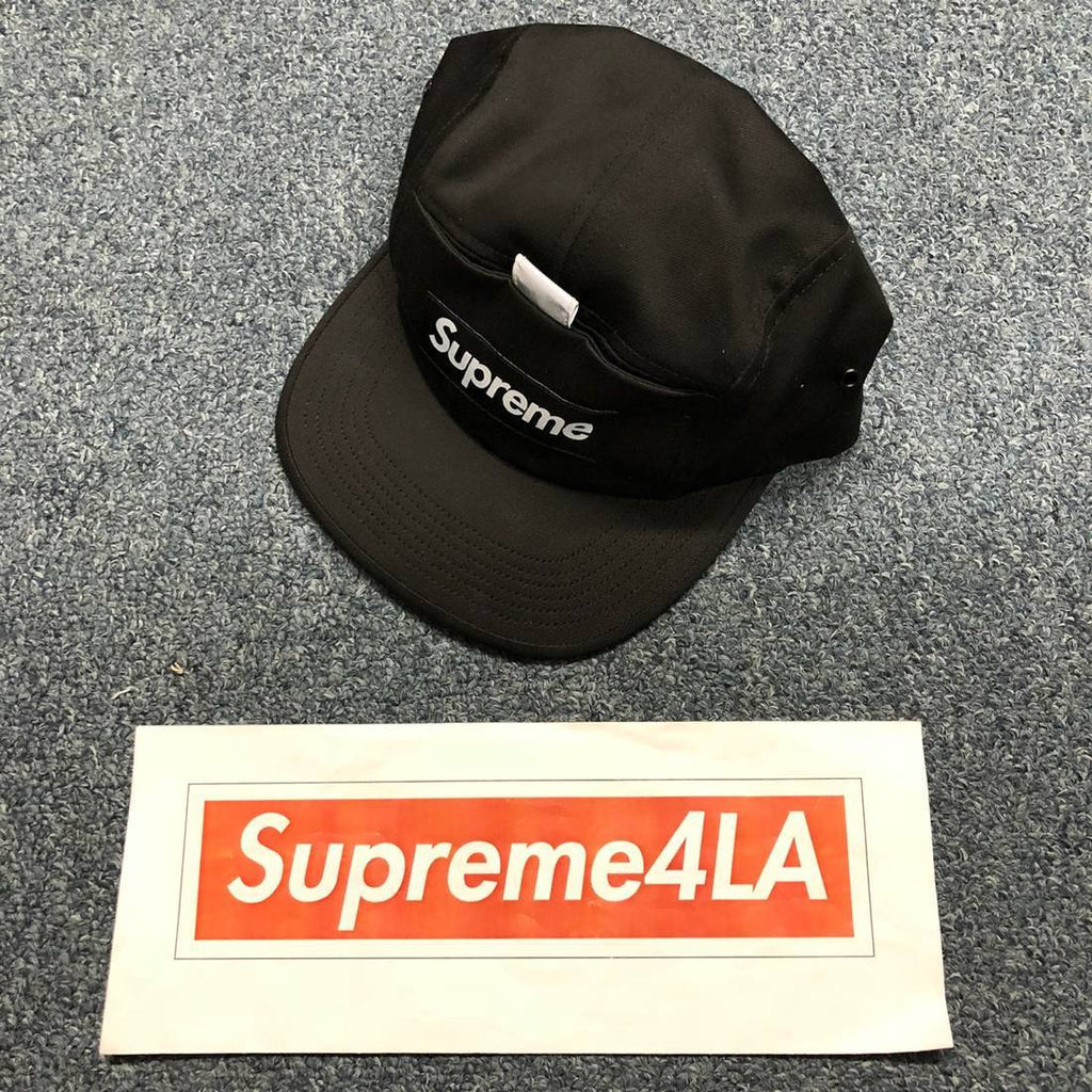 830b5c3894d7 Supreme 18S S Reflective Tab Pocket Camp Cap Black – Supreme4LA