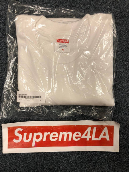 Supreme 17F/W Dog Sh*t Tee White