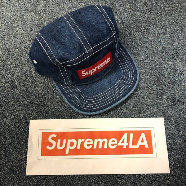 Supreme 18S/S Contrast Stitch Camp Cap Denim