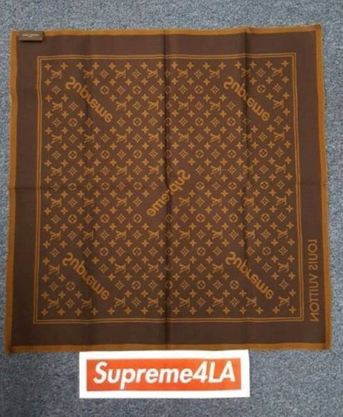 Supreme x Louis Vuitton LV Monogram Bandana Brown