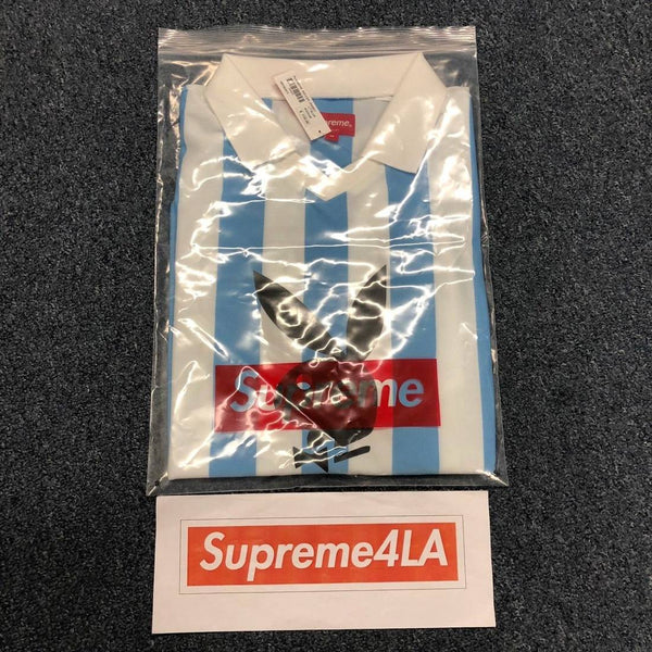 Supreme 18S/S Playboy Soccer Jersey Light Blue
