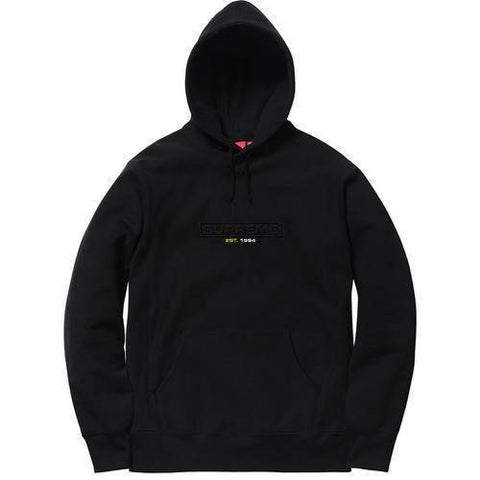 Supreme 18S/S Embossed Logo Hooded Sweatshirt Black