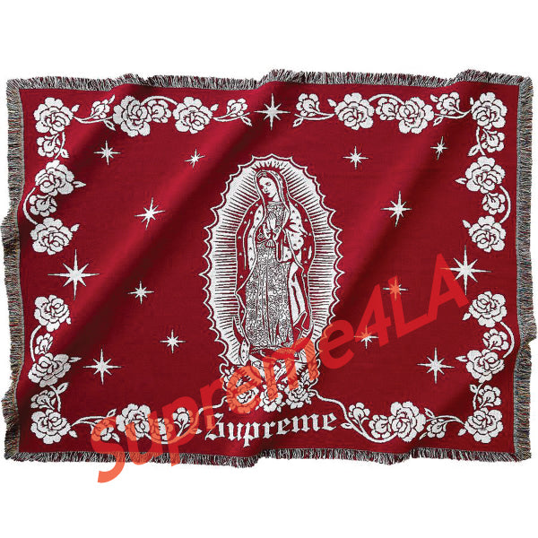 Supreme 18F/W Virgin Mary Blanket Red