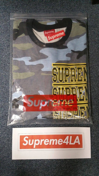 Supreme 18S/S Stacked L/S Top Blue Camo