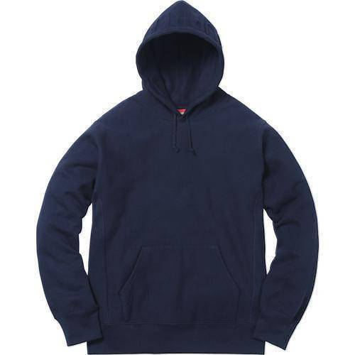 Supreme 17F/W Embossed Logo Hooded Sweatshirt Navy