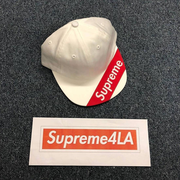 Supreme 18S/S Visor Label 6-Panel White
