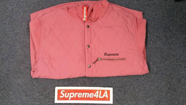 Supreme 17F/W Hooded Fleece Nylon Shirt Pink