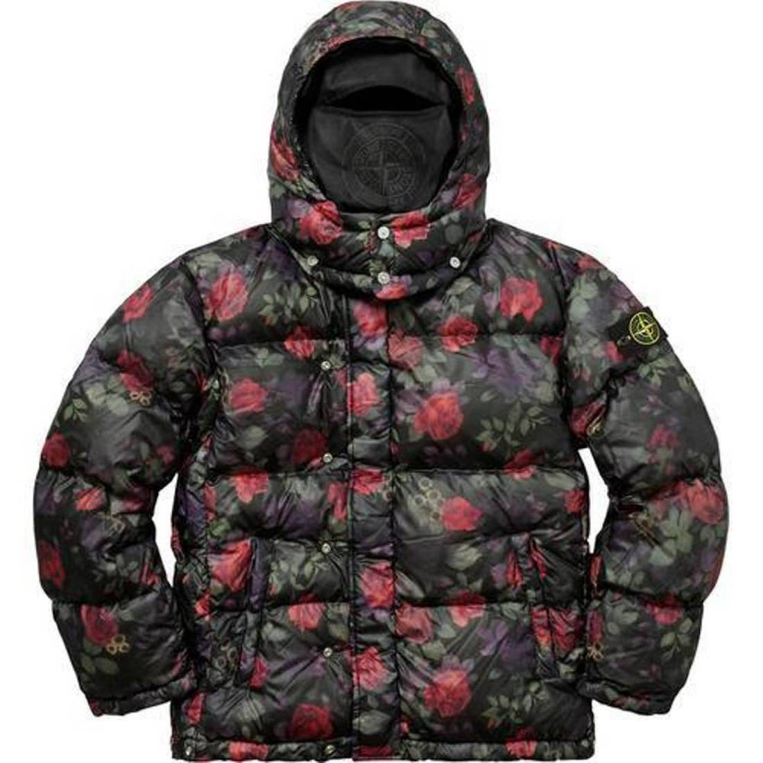 Supreme 17F/W Stone Island Lamy Cover Stampato Puffy Jacket Black