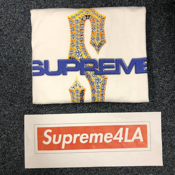 Supreme 18S/S Diamonds Tee White