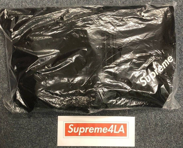Supreme 18S/S Corner Label Hooded Sweatshirt Black