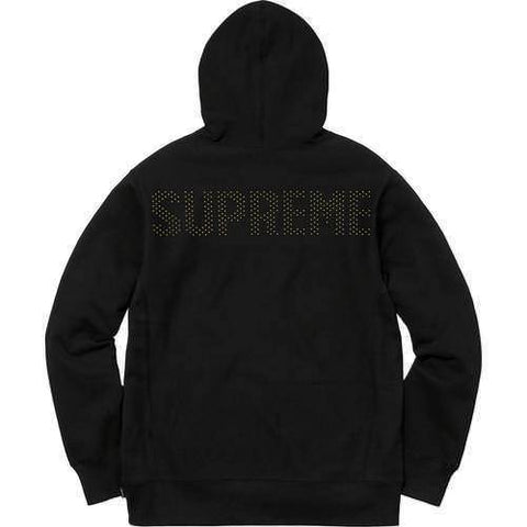 Supreme 18S/S Studded Hooded Sweatshirt Black