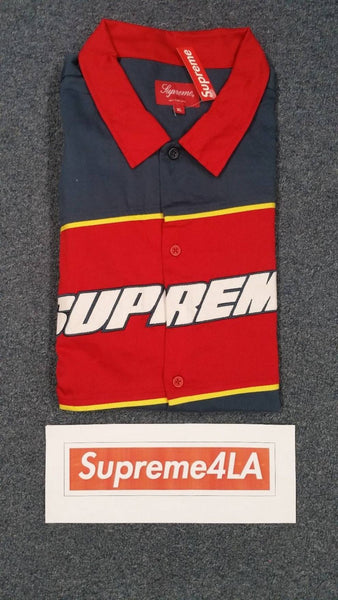 Supreme 18S/S Color Blocked Work Shirt Light Navy