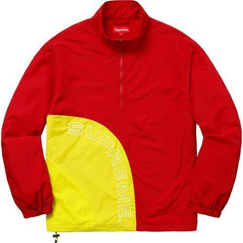 Supreme 18S/S Corner Arc Half Zip Pullover Red
