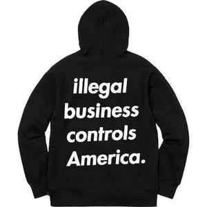 Supreme 18S/S Illegal Business Hooded Sweatshirt Black