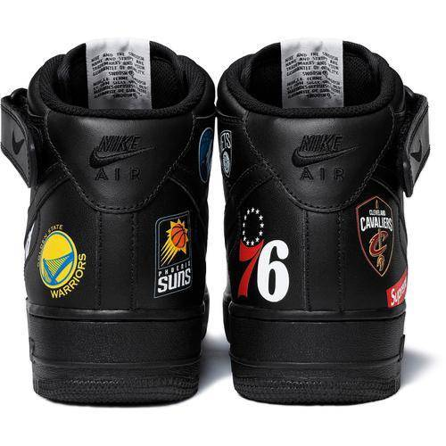 Supreme 18S/S NBA Teams Air Force 1 Mid Black