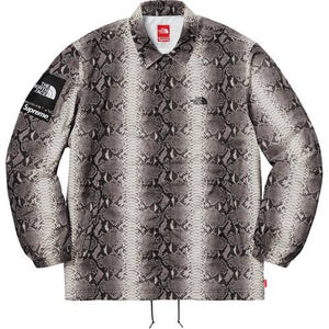Supreme The North Face Snakeskin Taped Seam Coaches Jacket Black