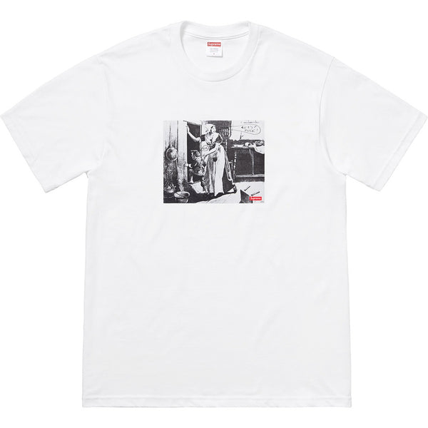Supreme 18F/W Hiding From Indians Tee White