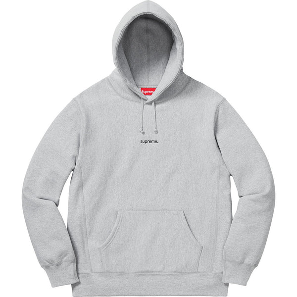 Supreme 18F/W Trademark Hooded Sweatshirt Heather Grey Size XL