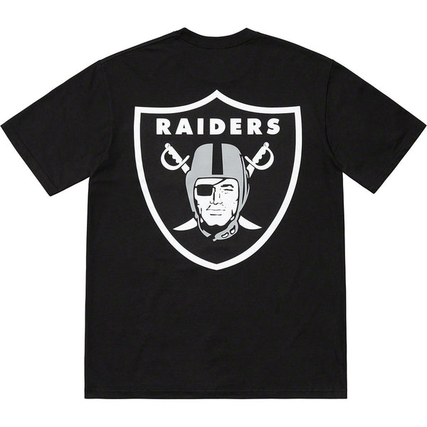 Supreme 19S/S NFL Raiders '47 Pocket Tee Black
