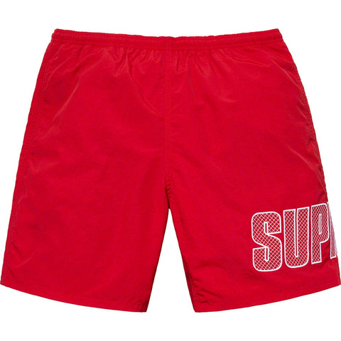 Supreme 19S/S Logo Appliqué Water Short Red