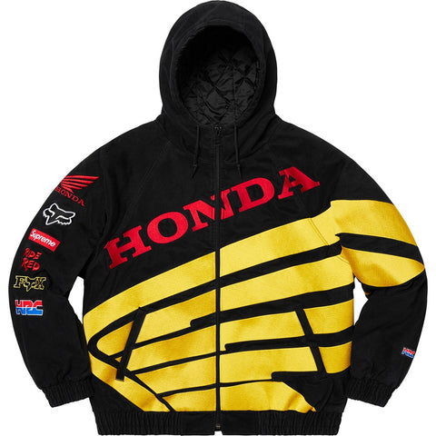 Supreme Honda Fox Racing Puffy Zip Up Jacket Black Size L