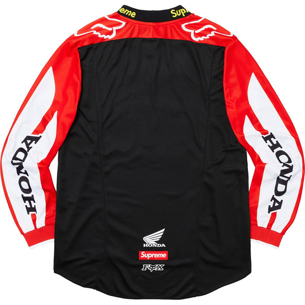 Supreme 19FW Honda Fox Racing Moto Jersey Top Red