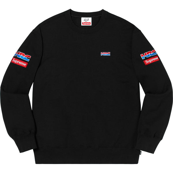 Supreme 19FW Honda Fox Racing Crewneck Black Size XL