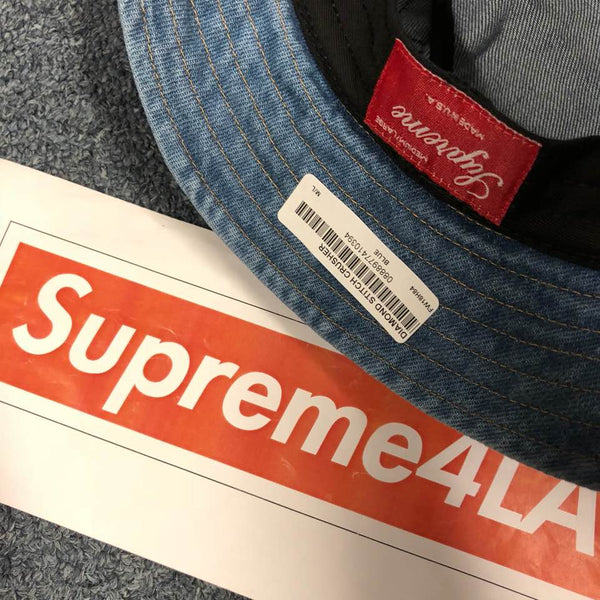 Supreme 18F/W Diamond Stitch Crusher Denim