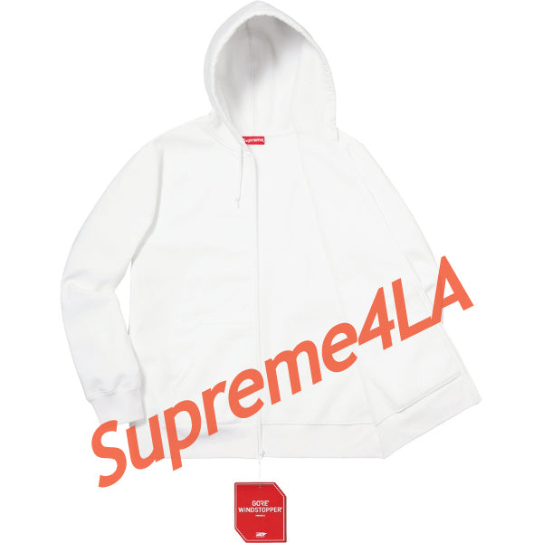 Supreme 18F/W WINDSTOPPER Zip Up Hooded Sweatshirt White