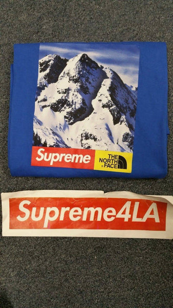 Supreme 17F/W The North Face Mountain Tee Royal