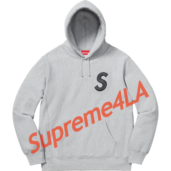 Supreme 18F/W S Logo Hooded Sweatshirt Heather Grey