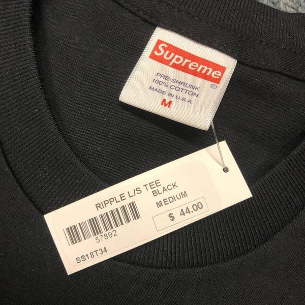 Supreme 18S/S Ripple L/S Tee Black