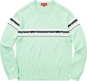 Supreme 18S/S Striped Raglan Sweater Mint