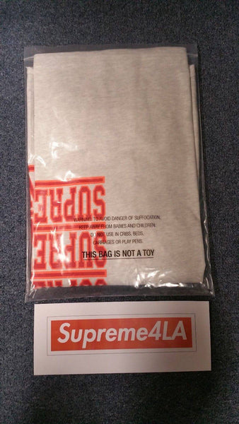 Supreme 18S/S Stacked L/S Top Ash Grey
