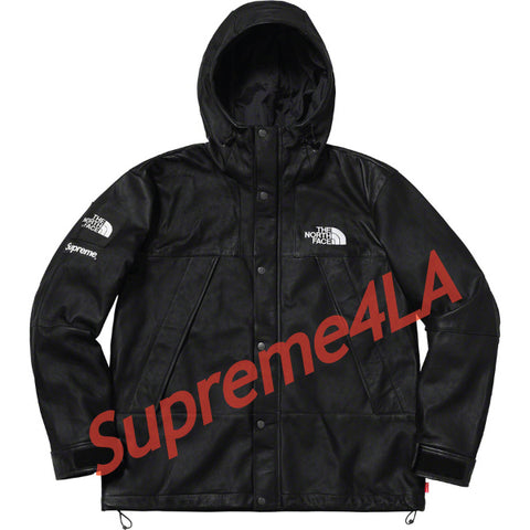 Supreme 18F/W The North Face Leather Mountain Parka Black