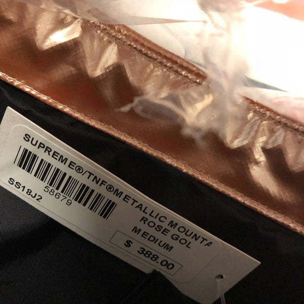 Supreme 18S/S The North Face Metallic Mountain Parka Rose Gold