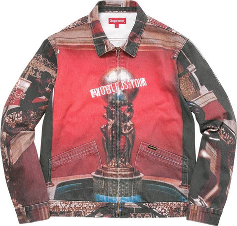 Supreme 17F/W Scarface The World Is Yours Denim Jacket