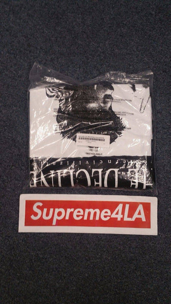 Supreme 17F/W Decline of Western Civilization Tee Black
