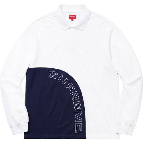 Supreme 18S/S Corner Arc L/S Polo White