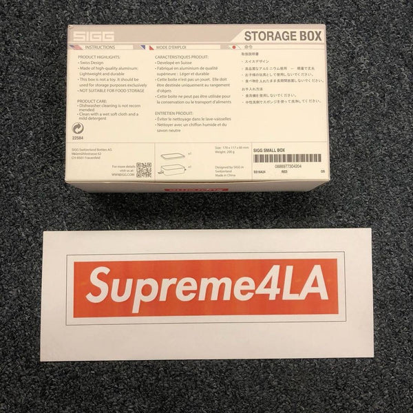 Supreme 18S/S SIGG Small Metal Box Plus