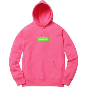 Supreme 17F/W Βox Logo Hooded Sweatshirt Magenta
